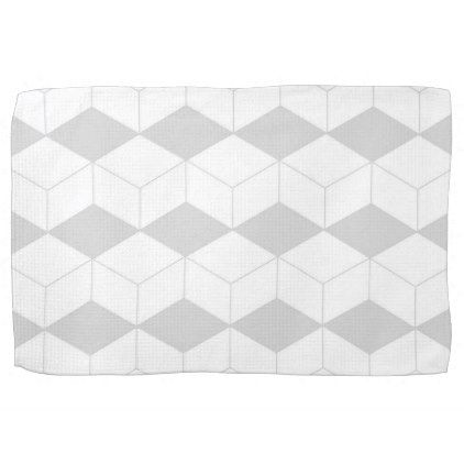 Abstract geometric pattern - gray and white. hand towel - Xmas ChristmasEve Christmas Eve Christmas merry xmas family kids gifts holidays Santa
