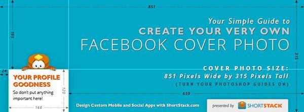 Photoshop template for Facebook cover photos. For @Courtney Baker Ortiz