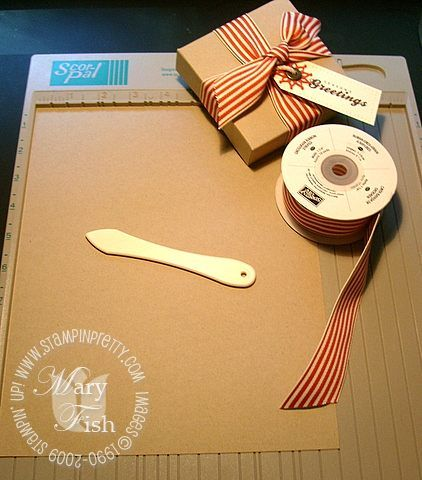 Stampin up pizza box
