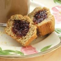 Top 10 Healthy Recipes for Kids from Taste of Home, Peanut Butter 'n' Jelly Muffins Recipe