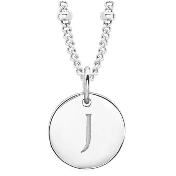 Missoma Women's Initial Charm Necklace - J - Silver (335 PEN) ❤ liked on Polyvore featuring jewelry, necklaces, silver jewelry, letter charms, initial necklace, silver charm necklace and letter charm necklace