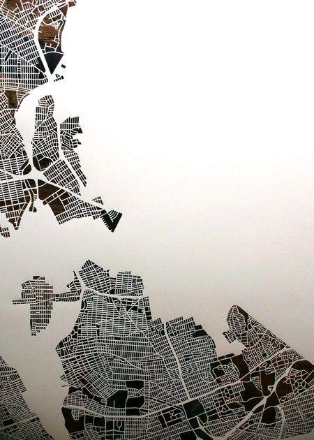 City map cuts de Karen O'Leary : NYC