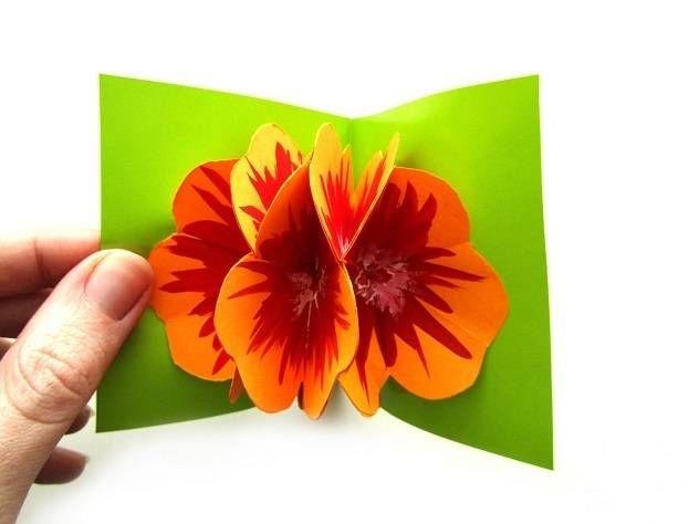 Поздравления картинки, открытки на 8 марта своими руками из бумаги объемные видео