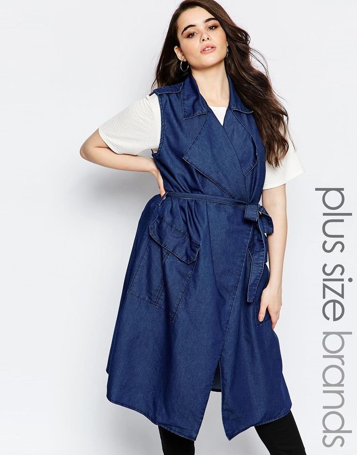 Image 1 - Boohoo Plus - Veste en chambray de jean sans manches