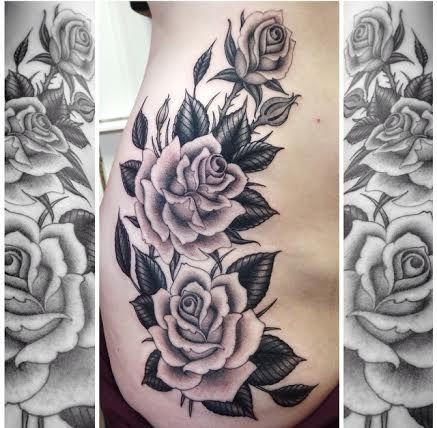 Black and gray roses by Graham Beech www.davincitattoo.com #tattoo #rose #rosetattoo #blackandgray