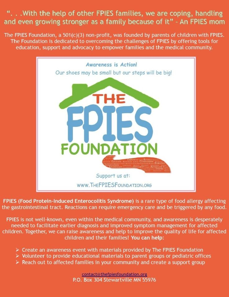 FPIES Awareness flyer