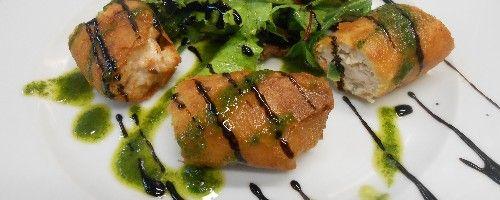 Croustillant de volaille à l'huile de Truffe blanche, salade Mesclun.   miummium.com