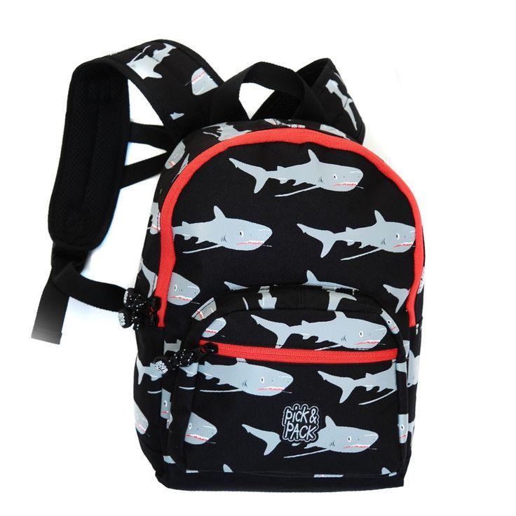Pick Pack Fun Kinder Rugzak Shark Black