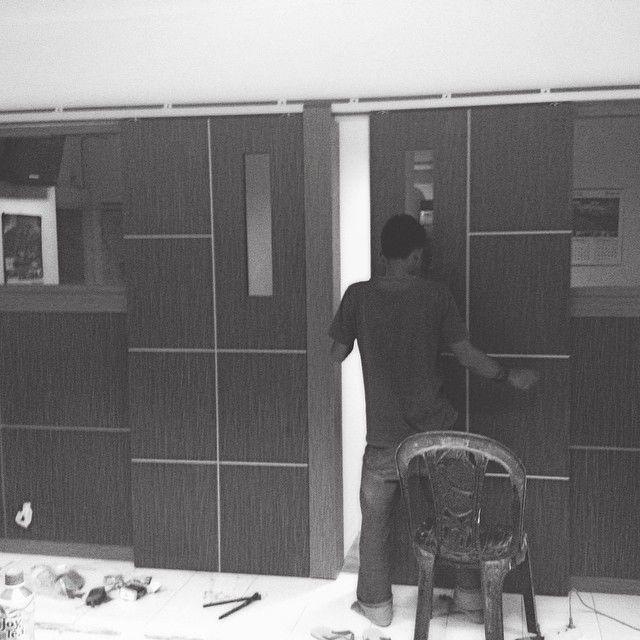 Office set/sliding door/ #terasworks