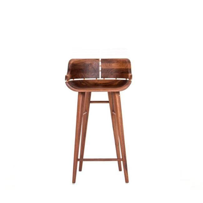 Kurf Walnut Bar Stool Low Back Bar Stool Organic Modernism Bar Stools Modern Bar Stools Walnut Stools