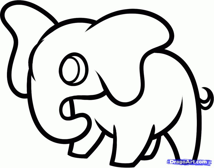 How to Draw a Elephant For Kids, Step by Step, Animals For Kids, For Kids, FREE Online Drawing Tutorial, Added by Dawn, December 24, 2012, 7...