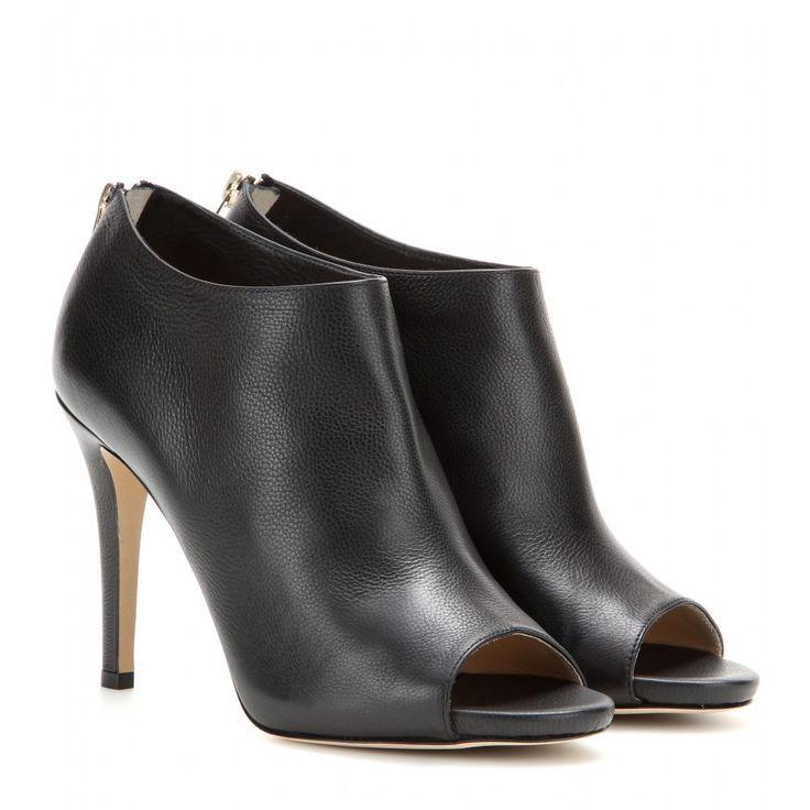 mytheresa.com - Bottines à bout ouvert en cuir Hector - Bottines - Chaussures - Jimmy Choo - Luxe et Mode pour femme - Vêtements, chaussures et sacs de créateurs internationaux