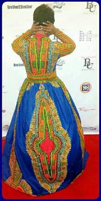 African print dashiki gown/ dashiki dress by TM Fashion accessories ~ African fashion, Ankara, kitenge, Kente, African prints, Braids, Asoebi, Gele, Nigerian wedding, Ghanaian fashion, African wedding ~DKK