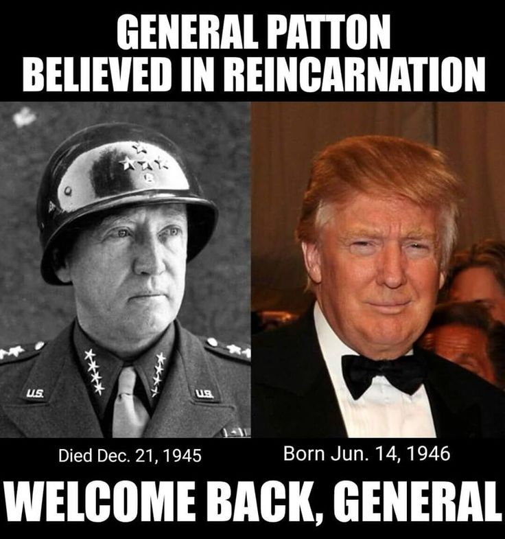 You gotta be shitting me. Trump the draft dodger is now the reincarnation of General George Patton. Trump supporters are insane.