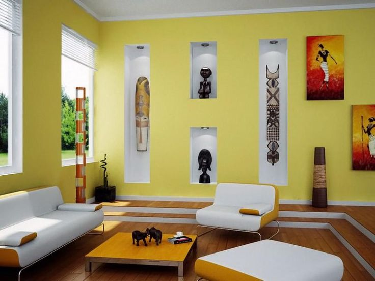 Living Room Color Combinations with Yellow
