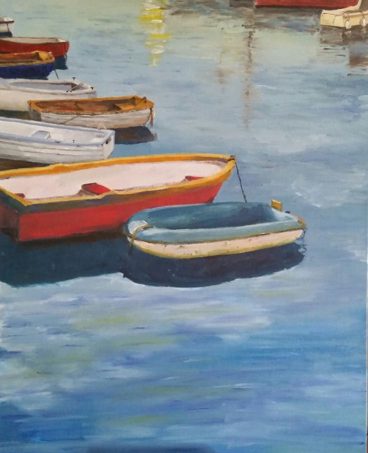 """The Dinghy "" by Damon Lucas. Paintings for Sale. Bluethumb - Online Art Gallery"