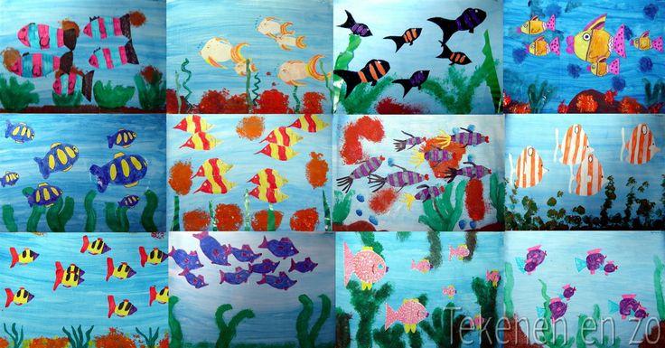 Tekenen en zo: tropische vissen