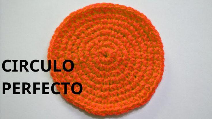 Como tejer un circulo perfecto en tejido crochet tutorial paso a paso.