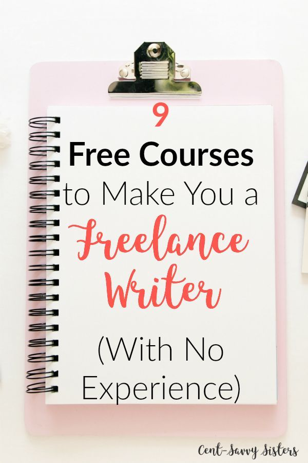 Become a Freelance Writer with 9 Free Courses-No Experience Needed These courses look amazing! Perfect for starting freelance writing from SCRATCH! Check them out!