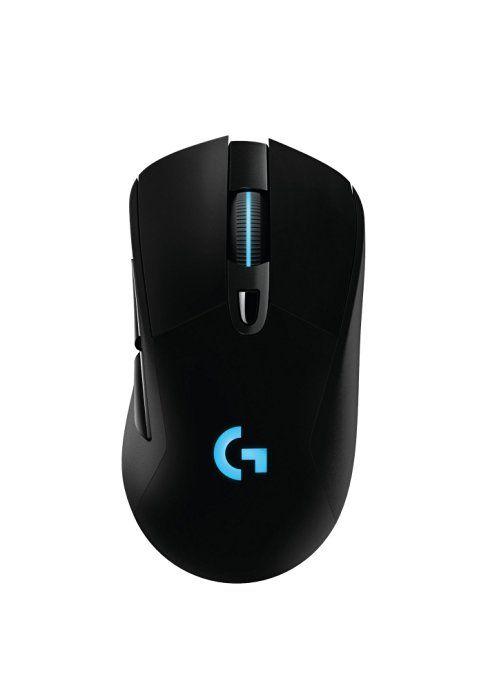 Logitech G403 Wireless Prodigy-Optische RGB Gaming Maus (12,000 DPI, mit 6 programmierbaren Tasten, USB, kabelgebundene/kabellose) schwarz