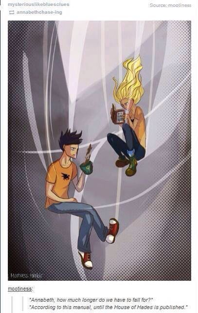 ... PERCABETH FALLING INTO TARTARUS THAT DIESNT MAKE ME WANT TO CRY Percy And Annabeth Fall Into Tartarus