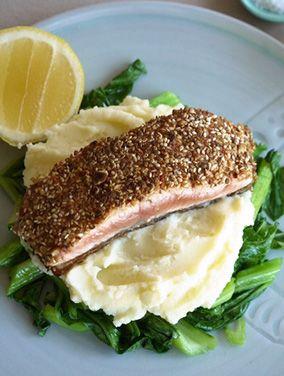 Dukkah Crusted Salmon Fillet - Julie Goodwin recipe