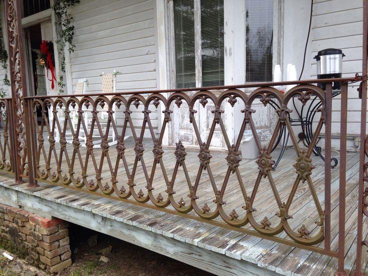 Beautiful Craftsmanship On Old Wrought Iron Railing At