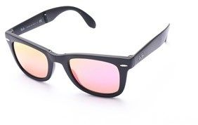 Ray-Ban Wayfarer Folding Flash Lenses Black/multi.