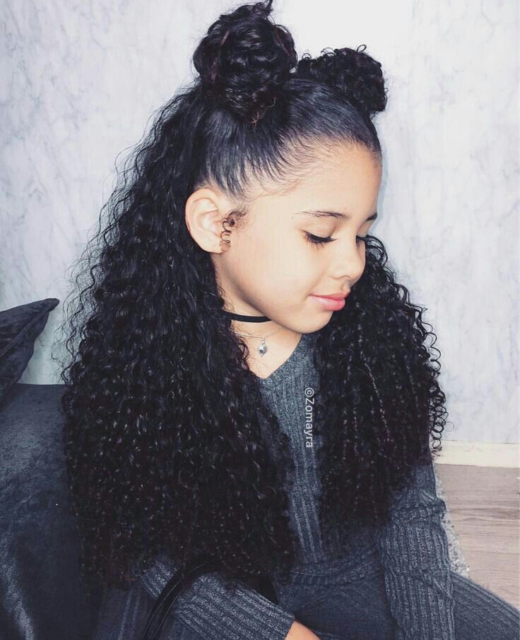 Pin By Bria Angelique On Sl Kids Mixed Curly Hair Hair Styles Mixed Girl Hairstyles