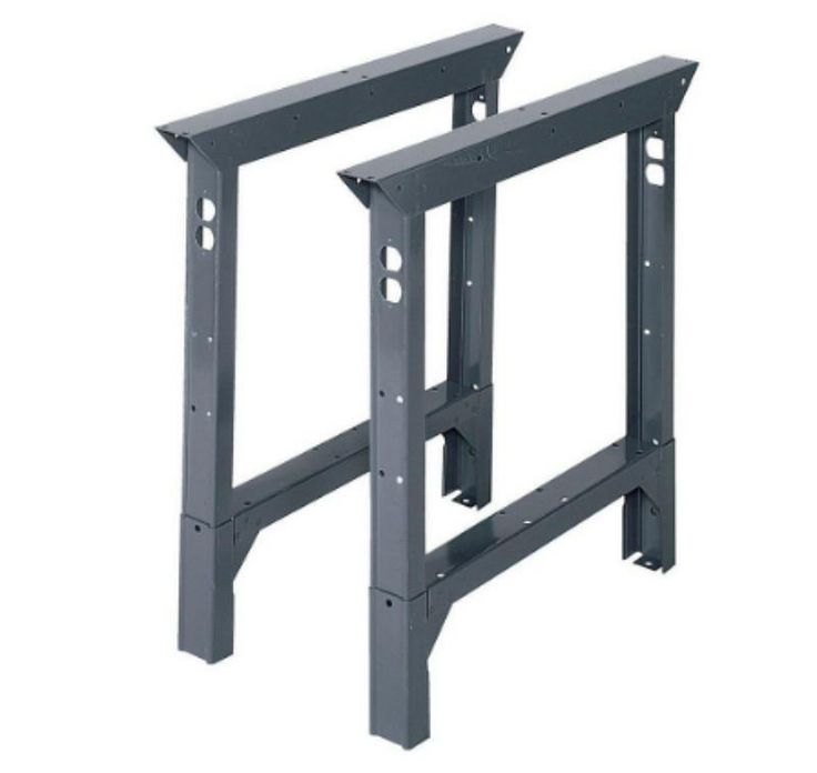 33 In. H x 2 In. W x 30 In. D Steel Adjustable Height Workbench Legs 4000 lb.