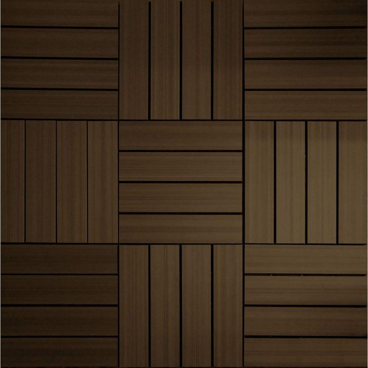 NewTechWood UltraShield 12 in. x 12 in. Spanish Walnut Outdoor Composite Quick Deck Tile (10 Tiles / Case)-QD-PK-WN at The Home Depot