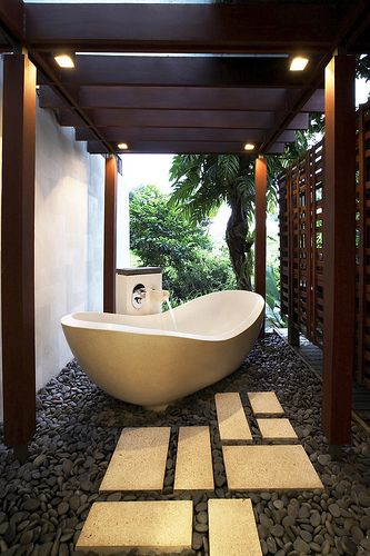 Perfect place for a Bathtub. Outside! (if only it wasnt frozen here 7months out of the year)                                                                                                                                                      More