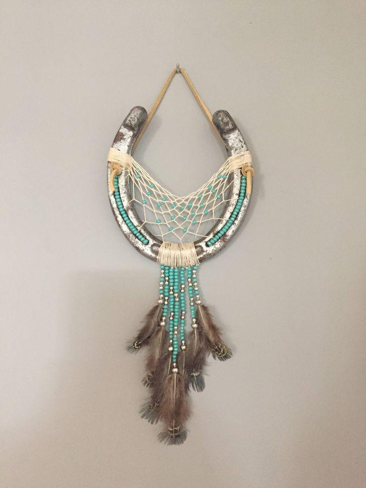 Horseshoe dreamcatcher rustic pinterest dangles for Horseshoe arts and crafts