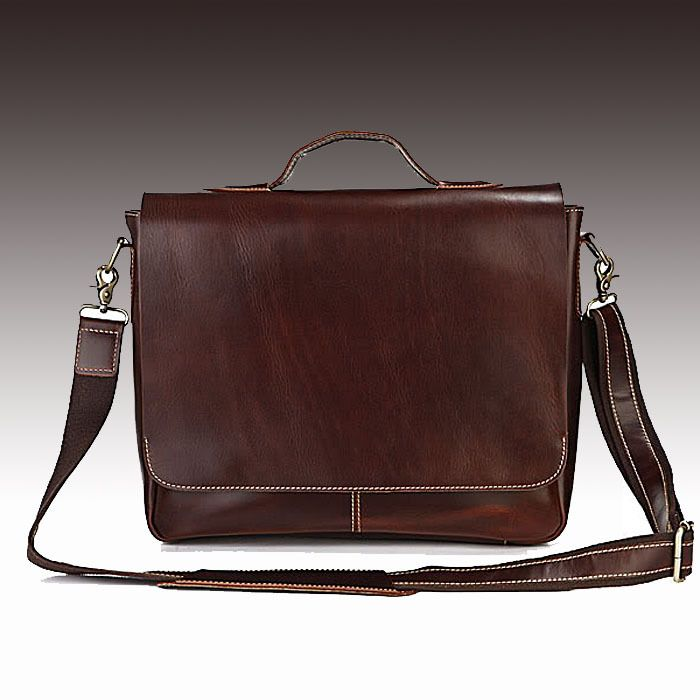 "Handmade Leather Briefcase / Messenger / 13"" 14"" 15"" Laptop 13"" 15"" MacBook Bag"
