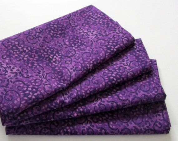 Large Cloth Napkins  Set of 4  Purple Leaves and by ClearSkyHome