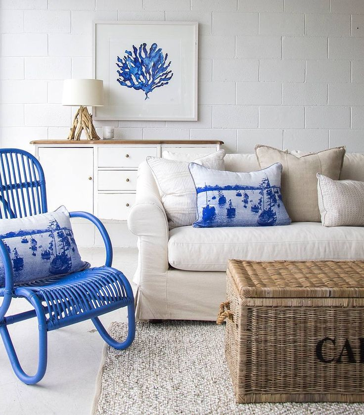 We are definitely feeling this cheerful bright blue!  how could that not make you happy upon your arrival home.