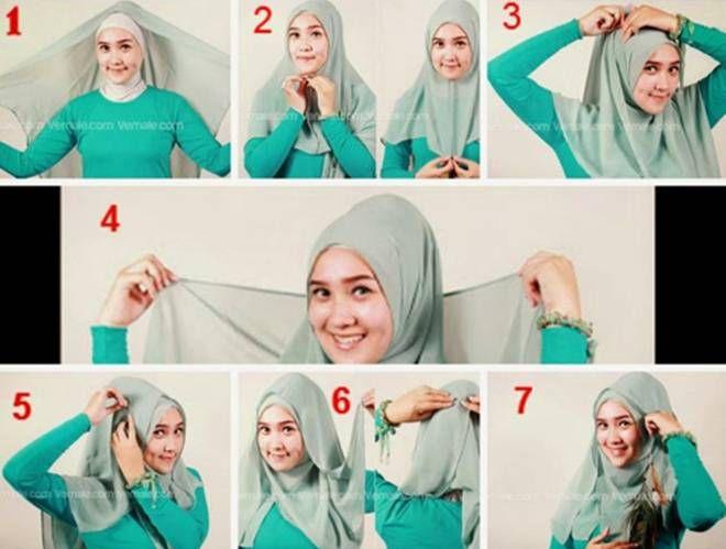 Cara Berhijab Turquoise yang Manis
