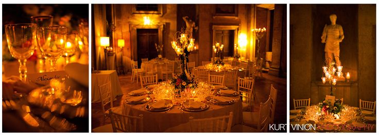 one of the most beautiful dinners I have ever seen, taken at the Villa Medici, Rome,