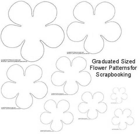 141 best diy flower templates images on pinterest fabric for Paper cut out templates flowers