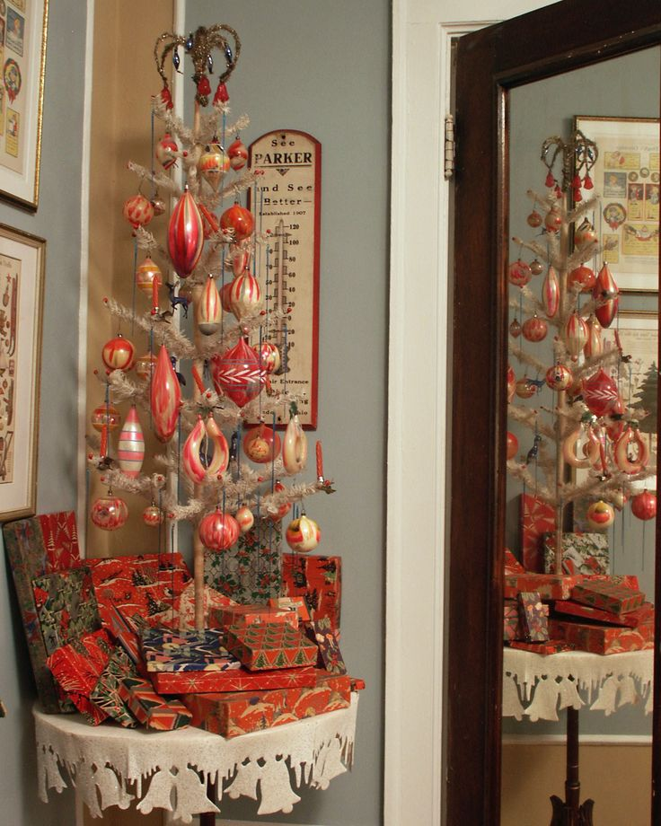 434 Best Images About Antique Christmas Trees On Pinterest