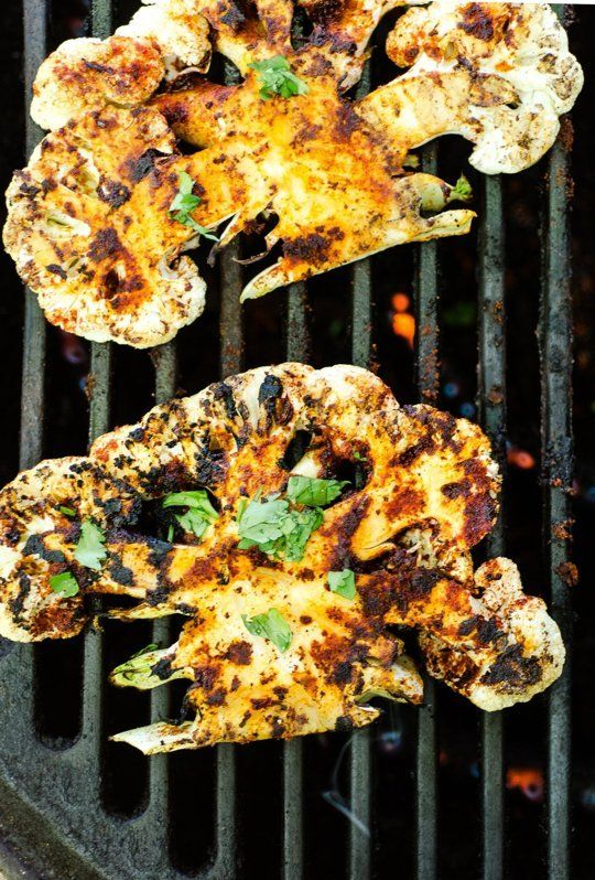 A steak even #vegetarians will love! Try this grilled chipotle lime #cauliflower steak recipe!