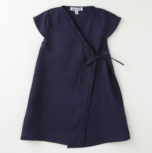 Linen Kimono Ruffle Dress - Gypsy Kids - Events