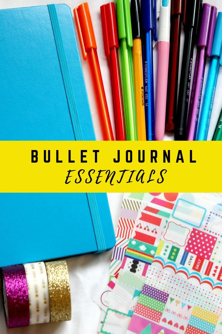 BULLET JOURNAL ESSENTIALS   BUJO #1   Georgia - here you will find all the essentials you need to start a bullet journal including pens, washi tape and stickers