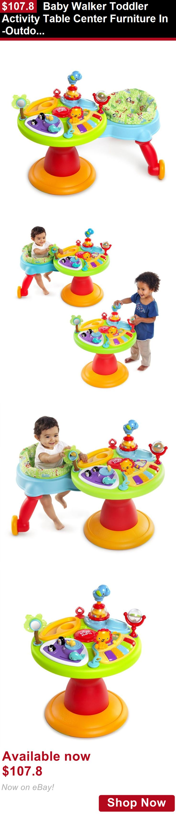 Baby activity centers: Baby Walker Toddler Activity Table Center Furniture In-Outdoor Play Area Walking BUY IT NOW ONLY: $107.8