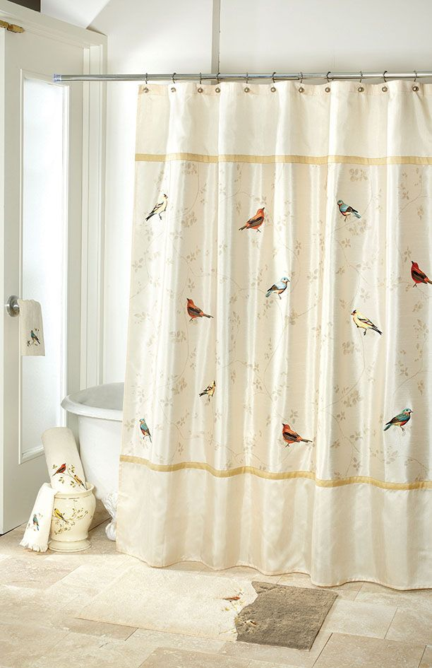Avanti linens gilded birds shower curtain ivory avanti is the worlds largest decorative towel and bath accessories manufacturer presents gilded birds