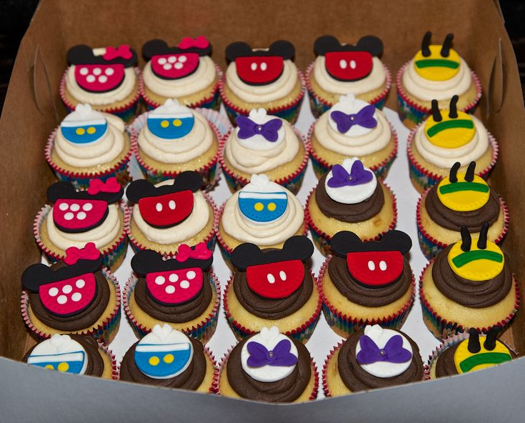 Mickey Mouse clubhouse Cupcakes Cupcakes Pinterest Mickey