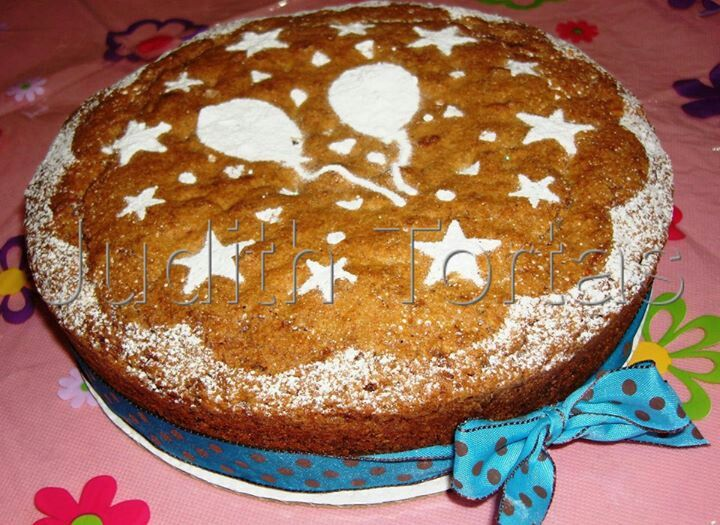 Carrot cake. Estrellas y globos