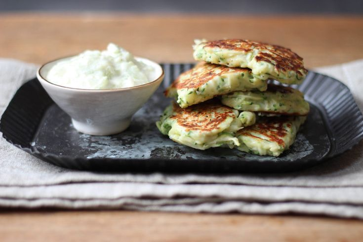 Pancake Ricotta & Courgettes + Tzatziki