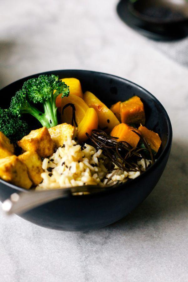 Macro Bowl with Miso-Tahini Sauce