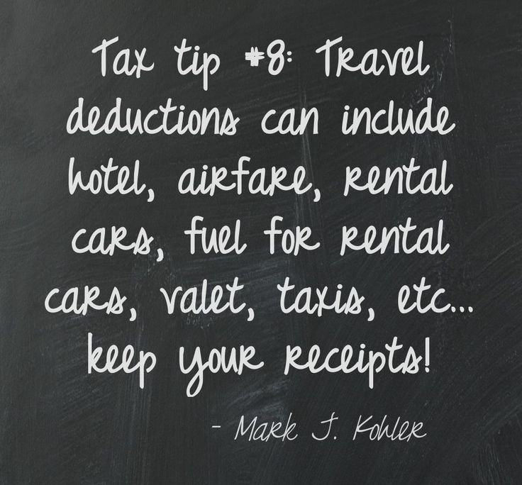 Tax tip #8: Travel deductions can include various transportation costs. Get and keep those receipts!